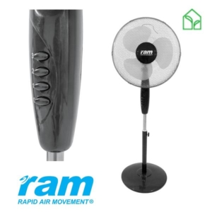 stand fan, room fan, oscillating fan, pedestal fan, ram fan
