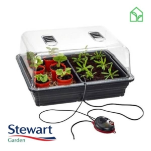 heated propagator, propagator heater, themostatic propagator, heated mini greenhouse