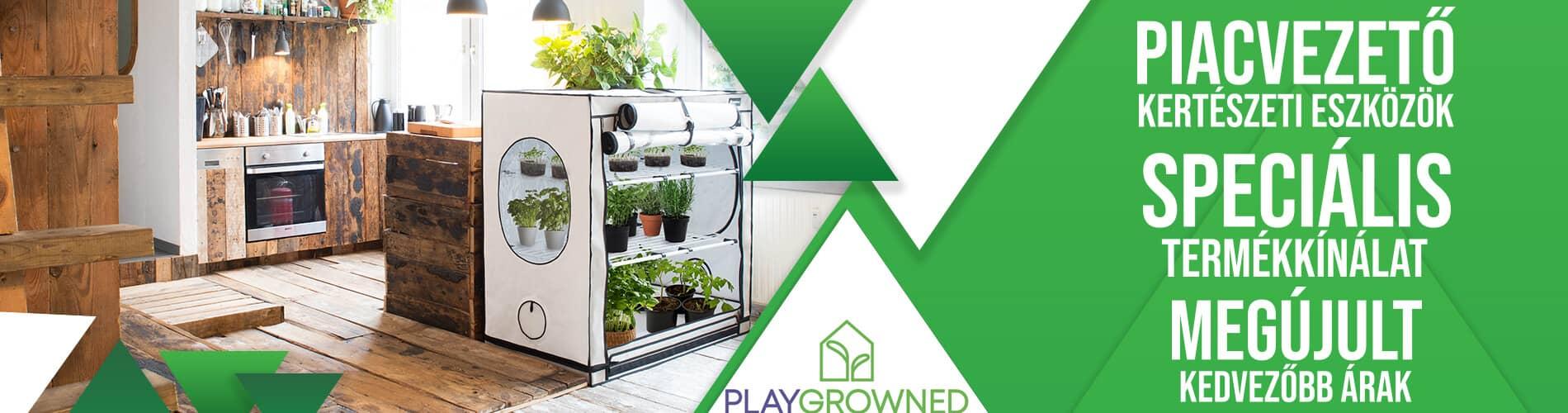 Playgrowned kertészeti webáruház gardening webshop